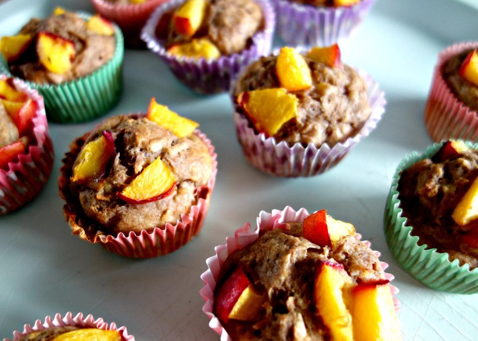 Gezonde muffins met nectarine