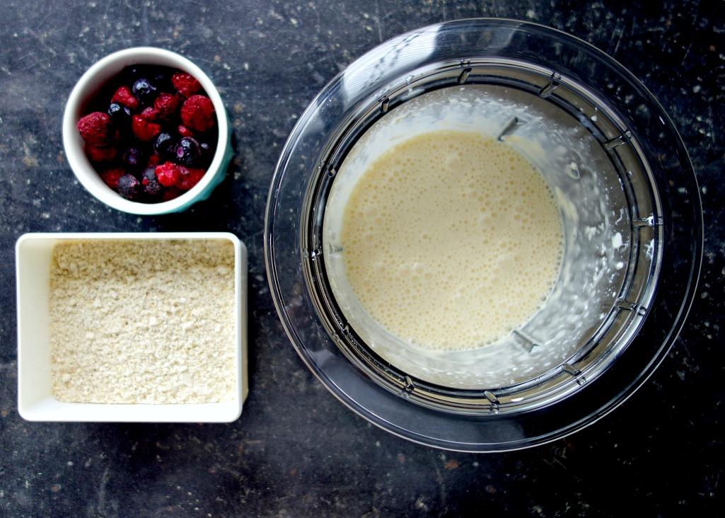 Benodigdheden, amandel cheesecake, Rood fruit, Zonder suiker