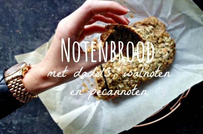 noten brood, gezond eten, bakken zonder suiker