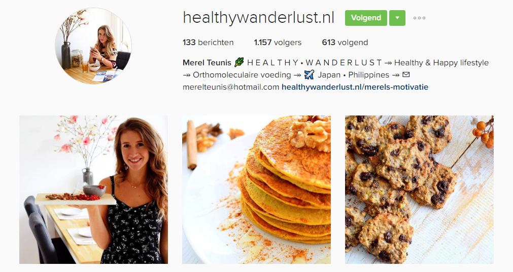 healthywanderlust-nl, Foodies op instagram