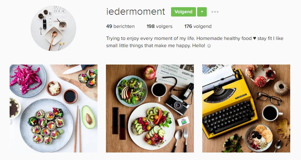 iedermoment, Foodies op instagram