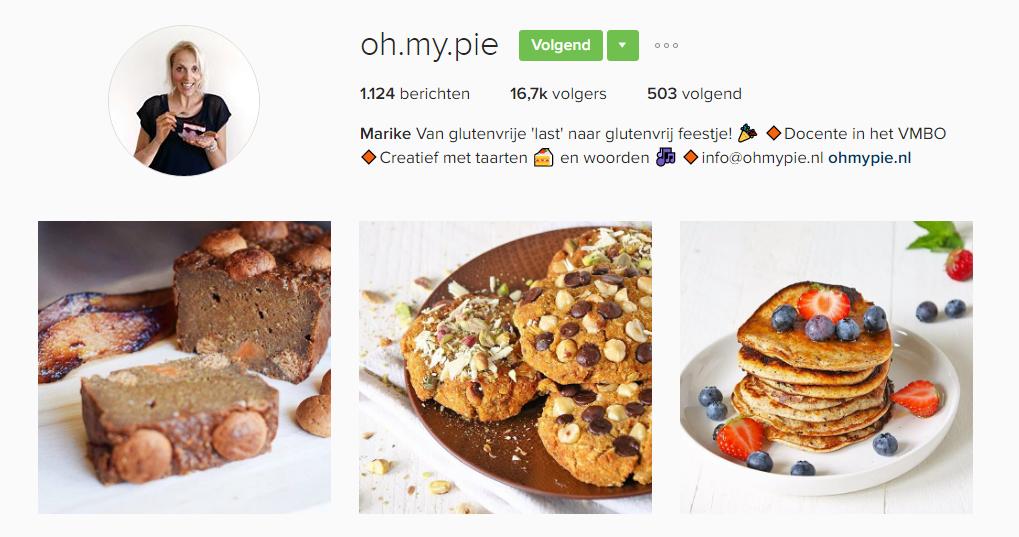 ohmypie, taart, Foodies op instagram