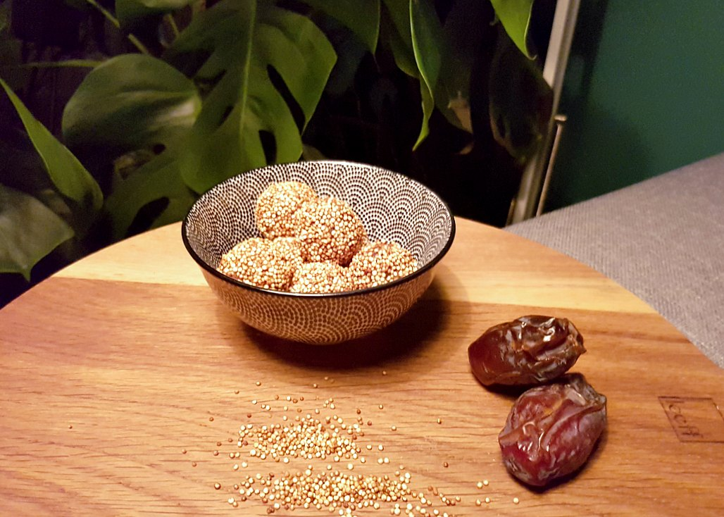 quinoa-dadel bliss balls