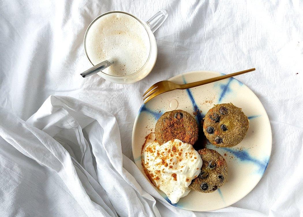 Matcha pancake muffins