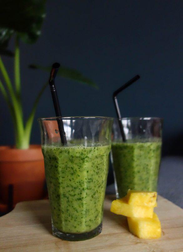 Ananas spinazie smoothie