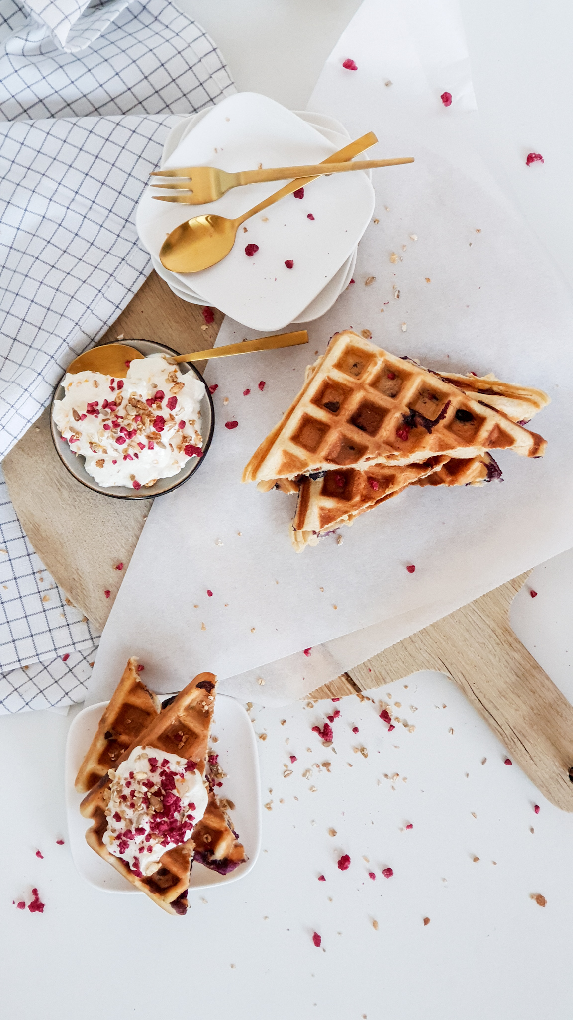 Blueberry waffels