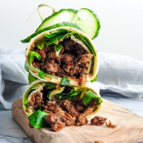 Wraps met pulled oats